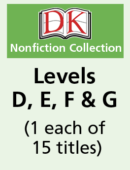 DK Readers – Levels D, E, F & G (1 each of 15 titles)