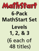 6-Pack MathStart Set – Levels 1, 2, & 3 – (6 each of 48 titles)
