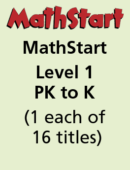 MathStart Level 1 – GR PK to K – (1 each of 16 titles)